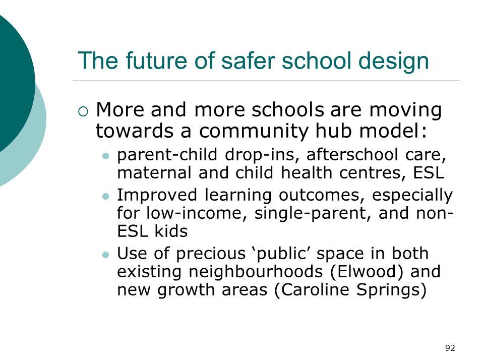 The future of safer school design