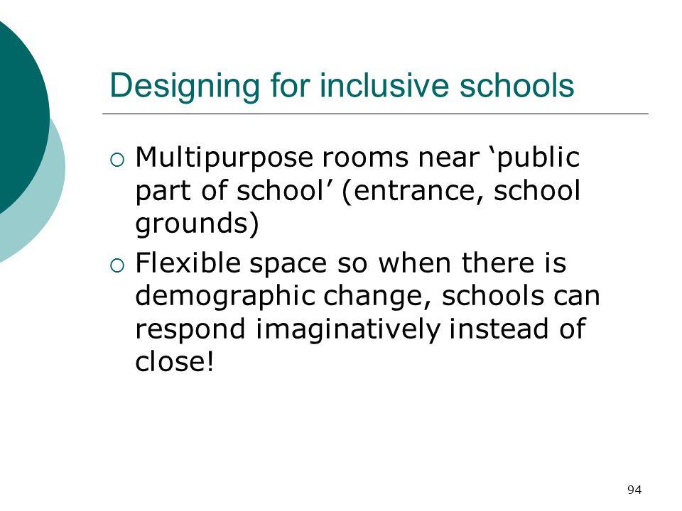 Designing for inclusive schools