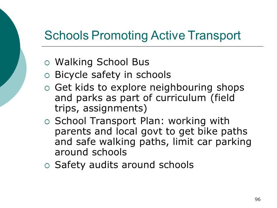 Schools Promoting Active Transport