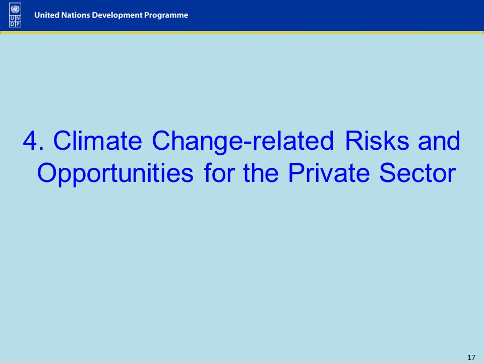 4. Climate Change-related Risks and