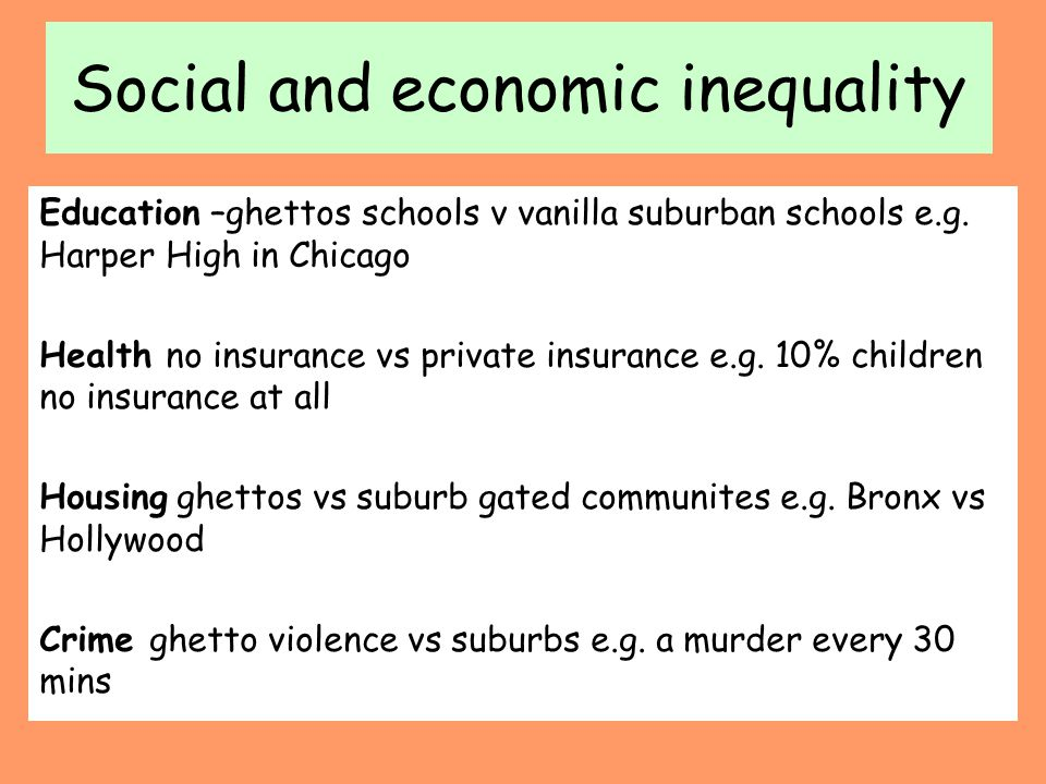 Social and economic inequality