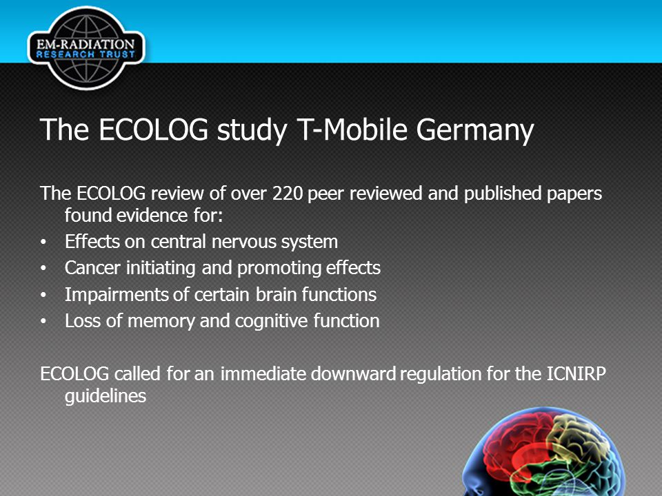 The ECOLOG study T-Mobile Germany