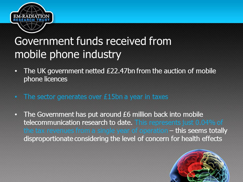 Government funds received from mobile phone industry