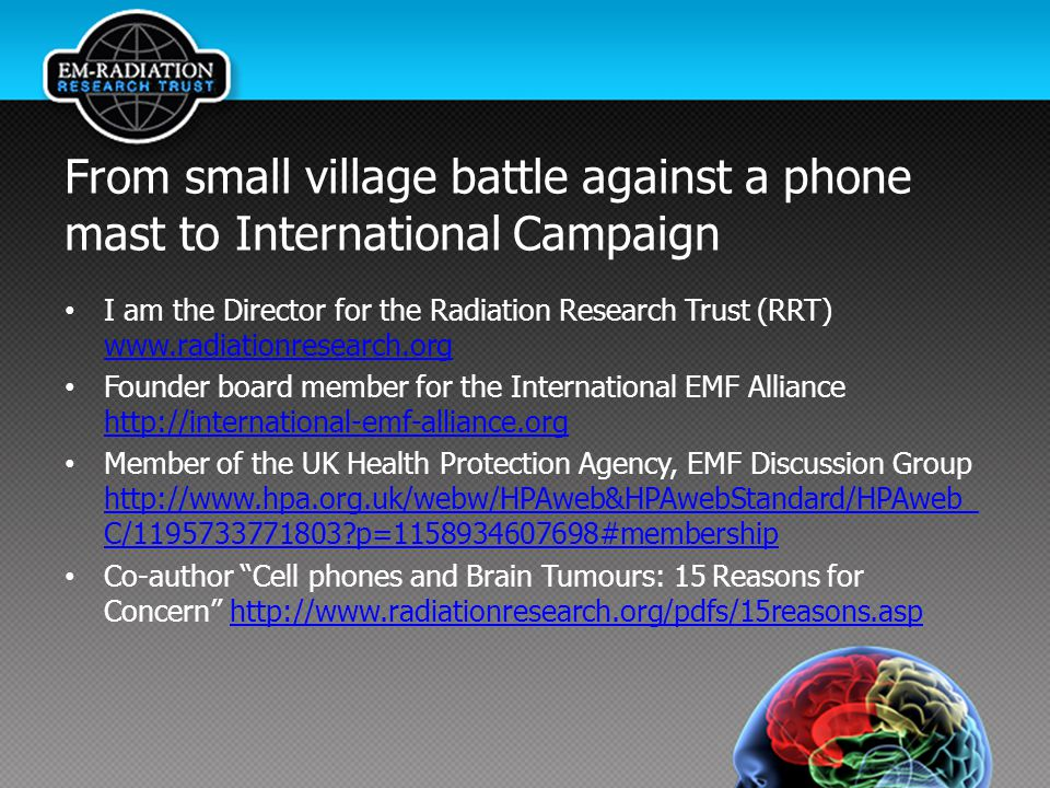 From small village battle against a phone mast to International Campaign