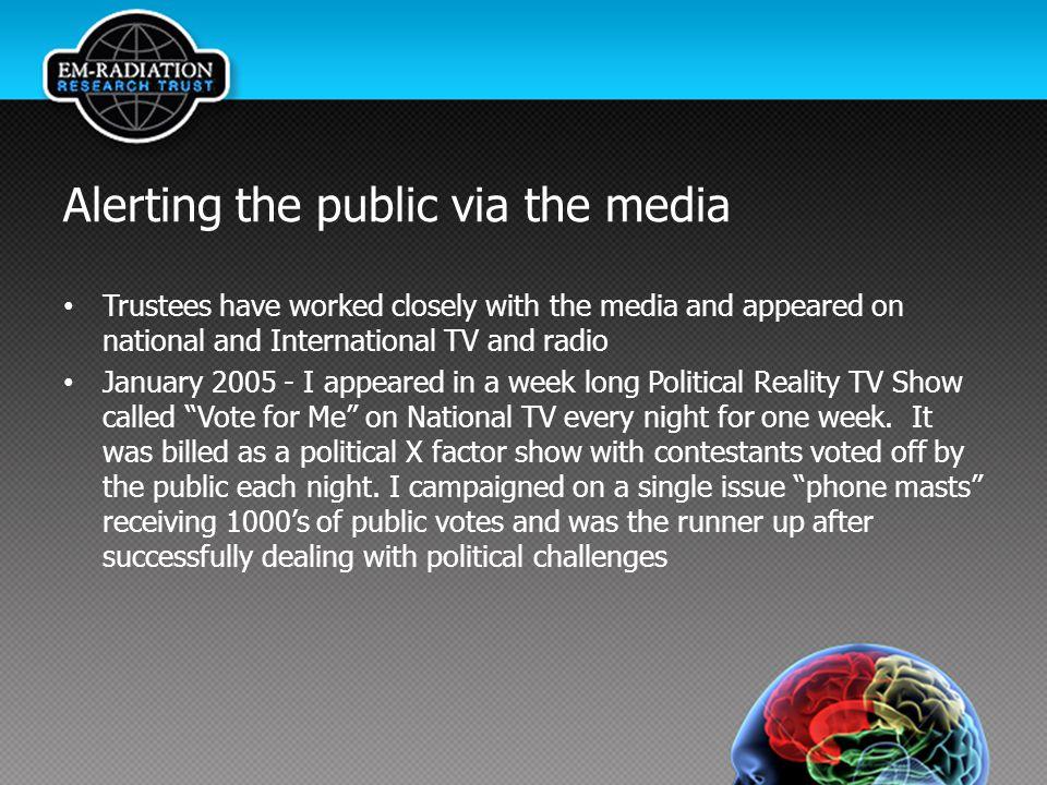 Alerting the public via the media