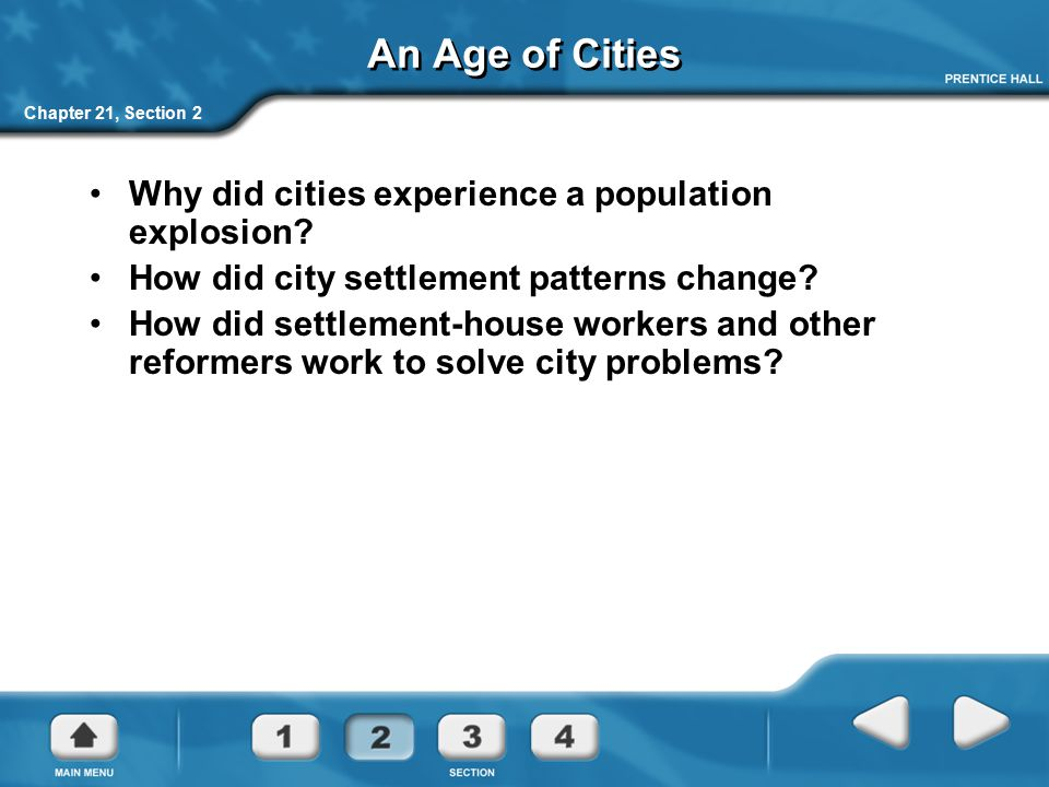 An Age of Cities Why did cities experience a population explosion