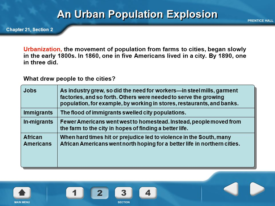 An Urban Population Explosion