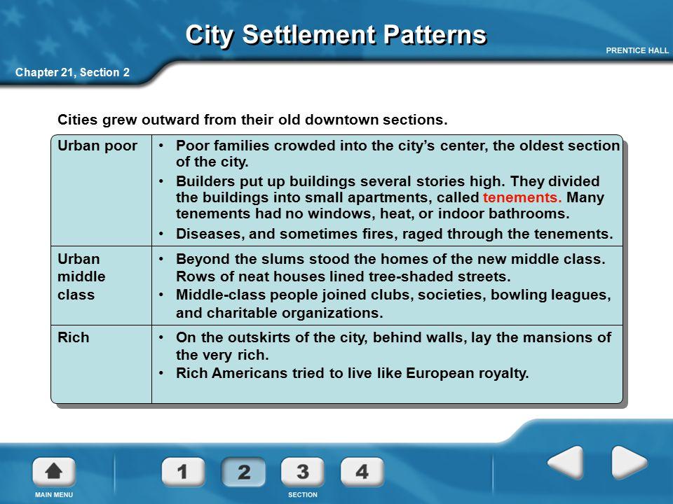 City Settlement Patterns