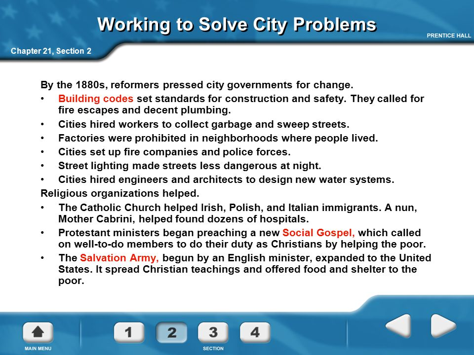 Working to Solve City Problems