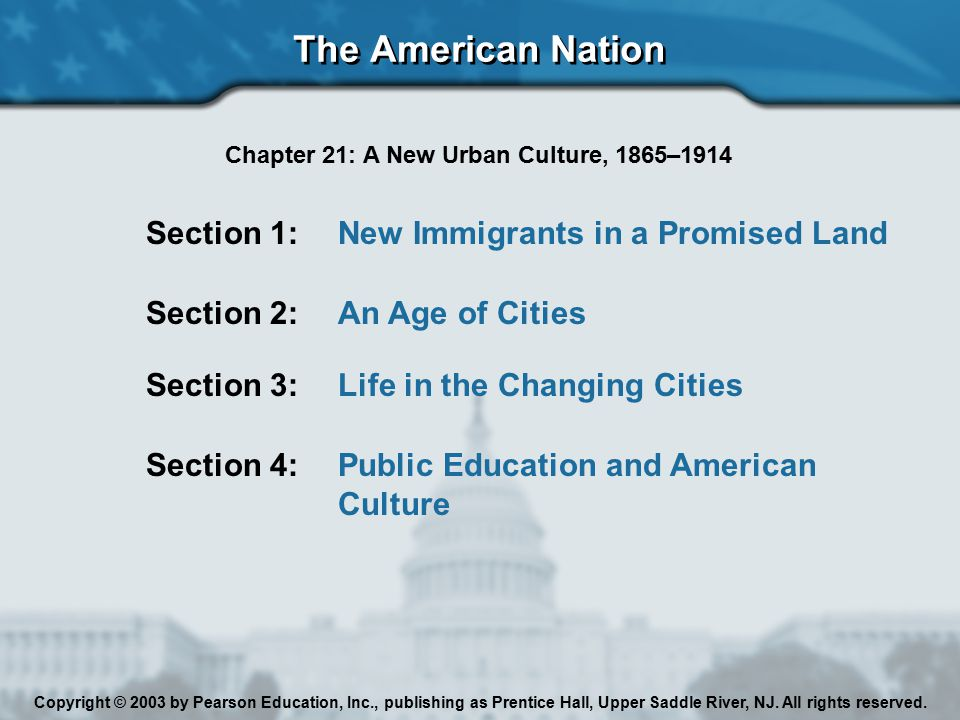 Chapter 21: A New Urban Culture, 1865–1914