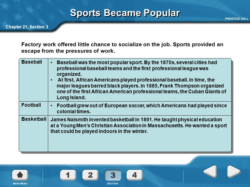 Sports Became Popular Chapter 21, Section 3.