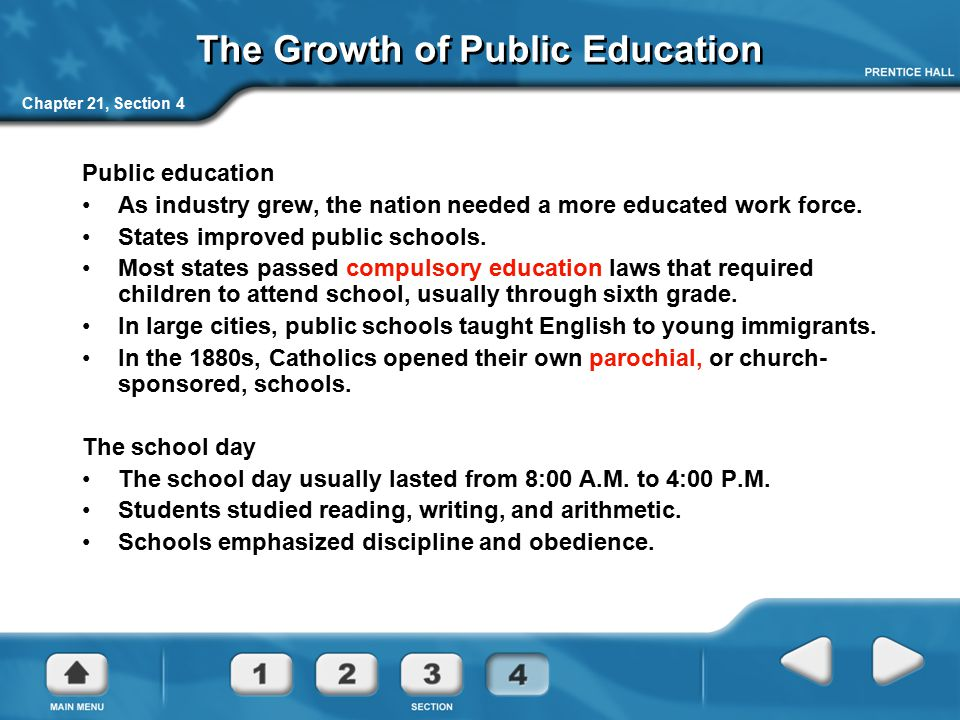 The Growth of Public Education