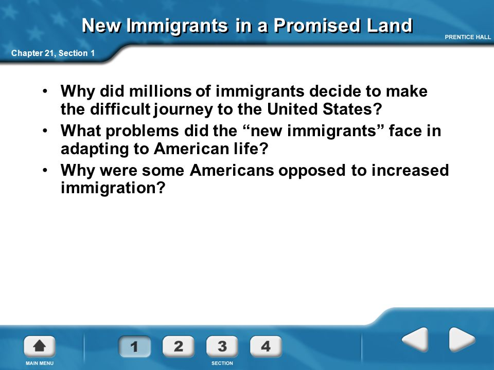 New Immigrants in a Promised Land
