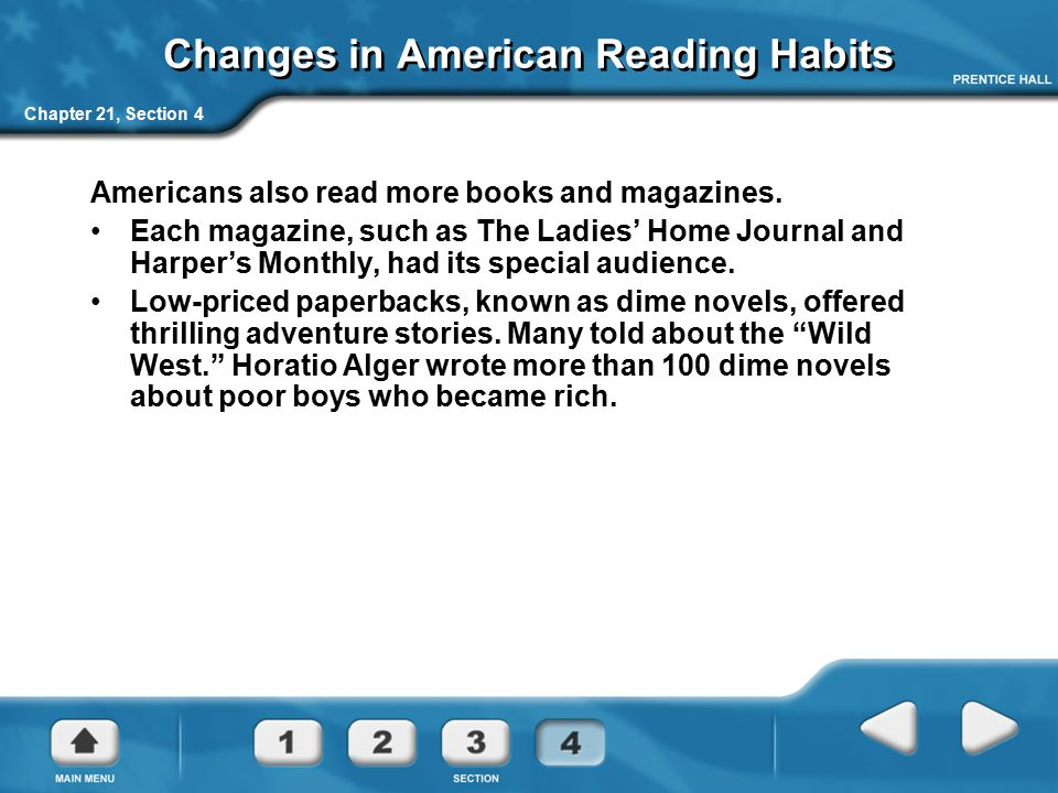 Changes in American Reading Habits