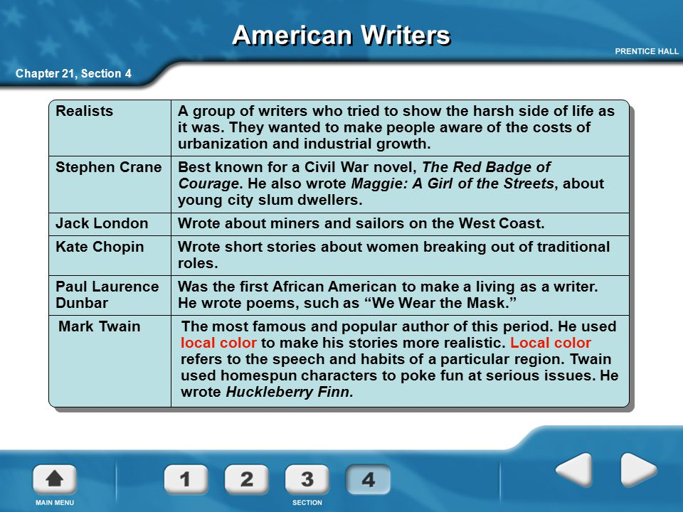 American Writers Realists