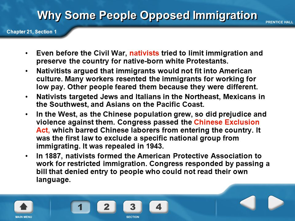 Why Some People Opposed Immigration