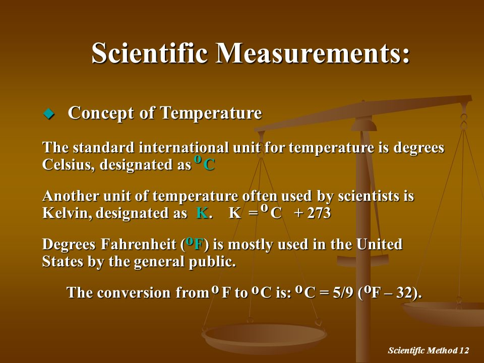 Scientific Measurements: