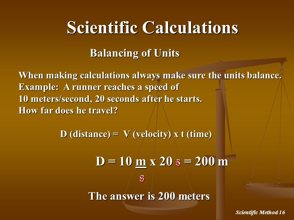 Scientific Calculations