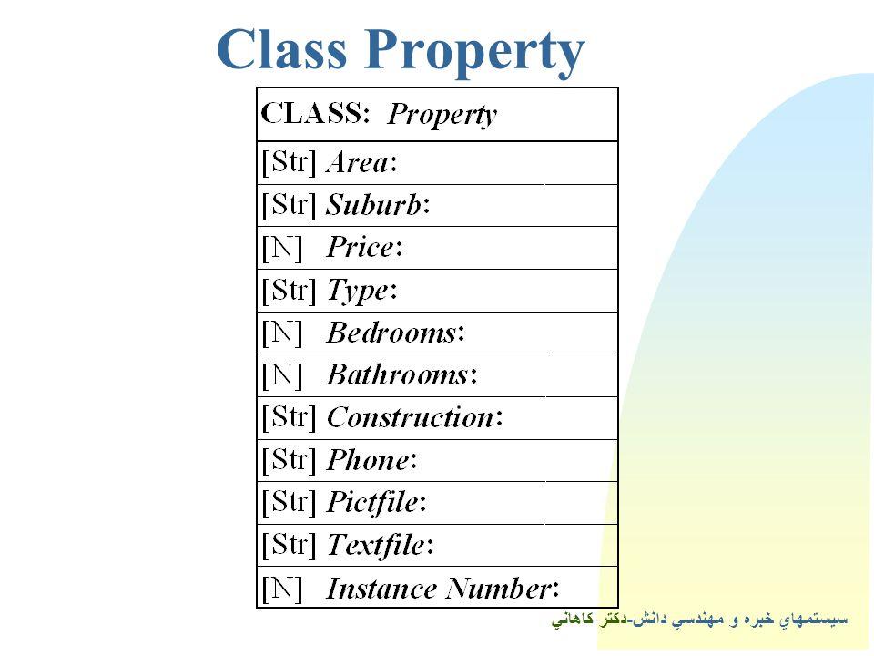 4Class Property سيستمهاي خبره و مهندسي دانش-دكتر كاهاني