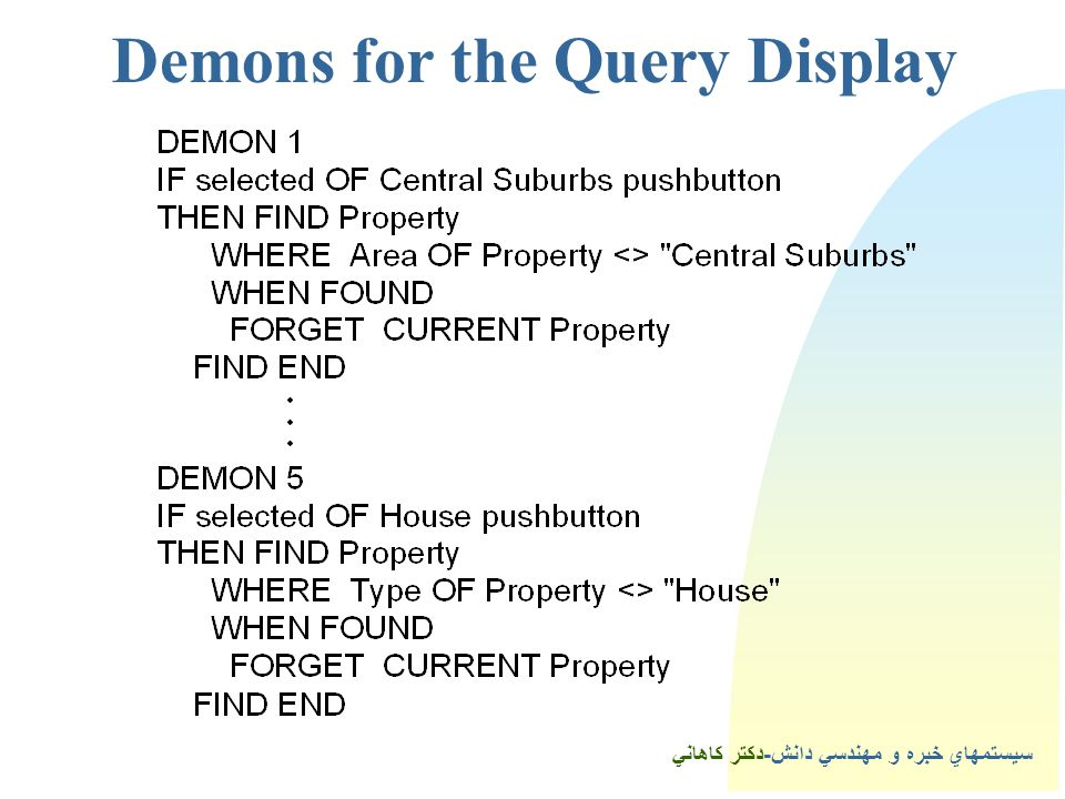5Demons for the Query Display