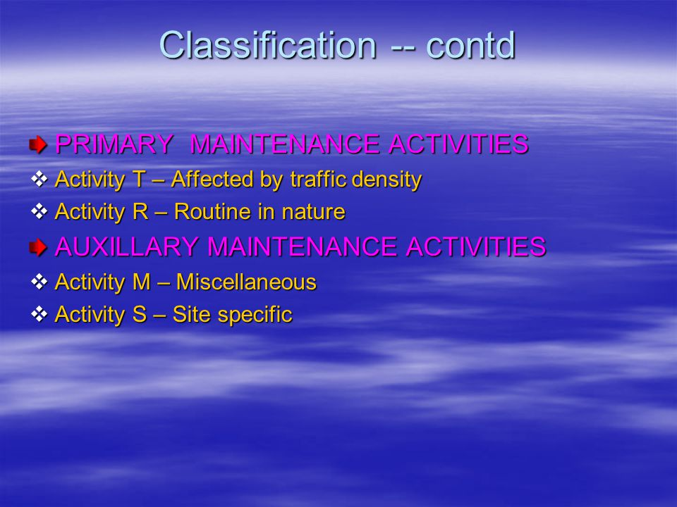 Classification -- contd