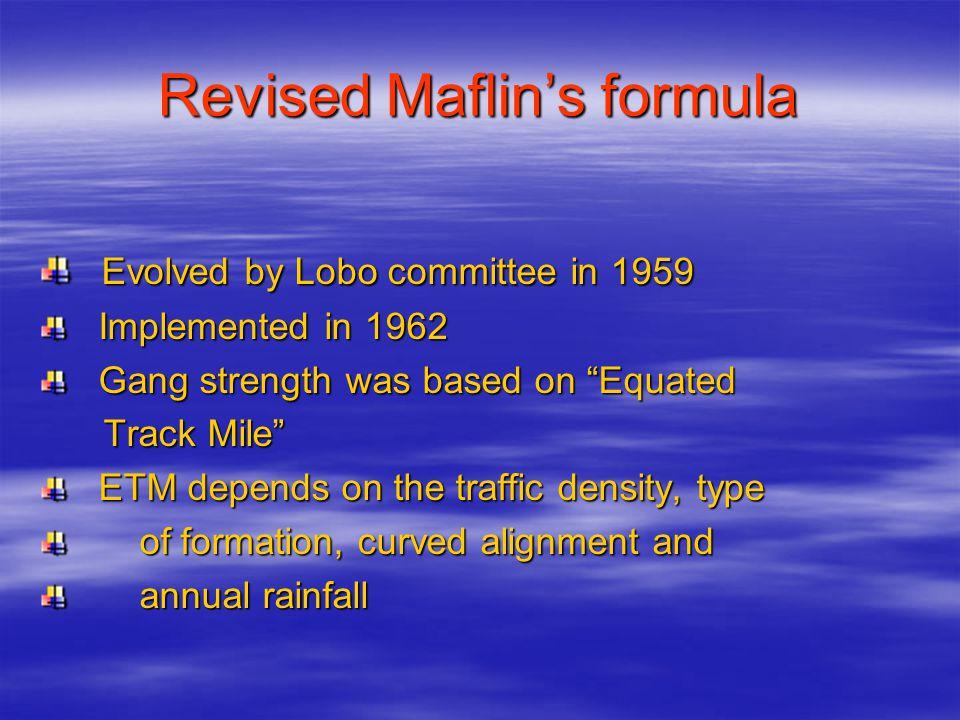 Revised Maflin's formula