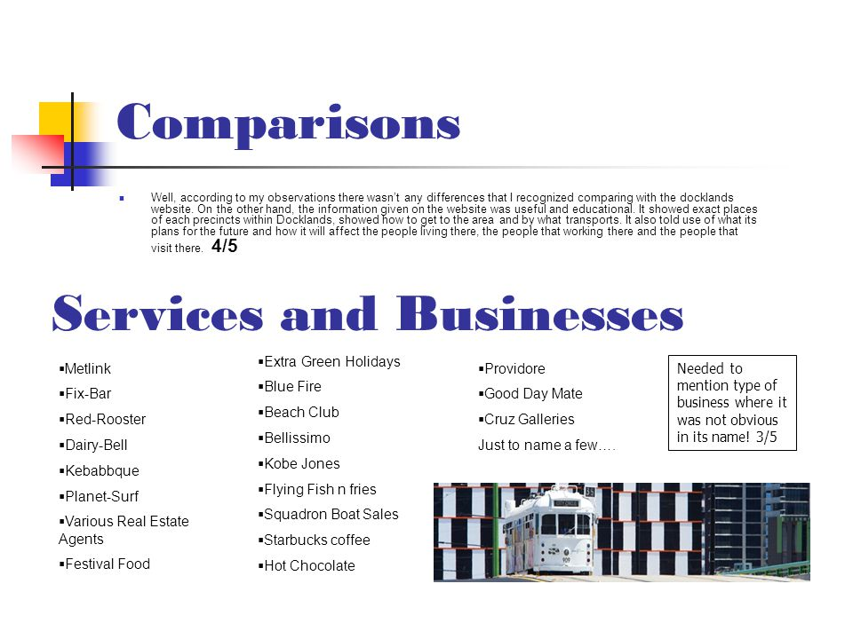 Services and Businesses