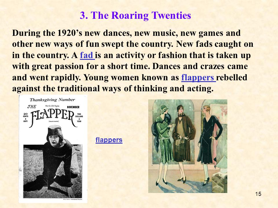 3. The Roaring Twenties