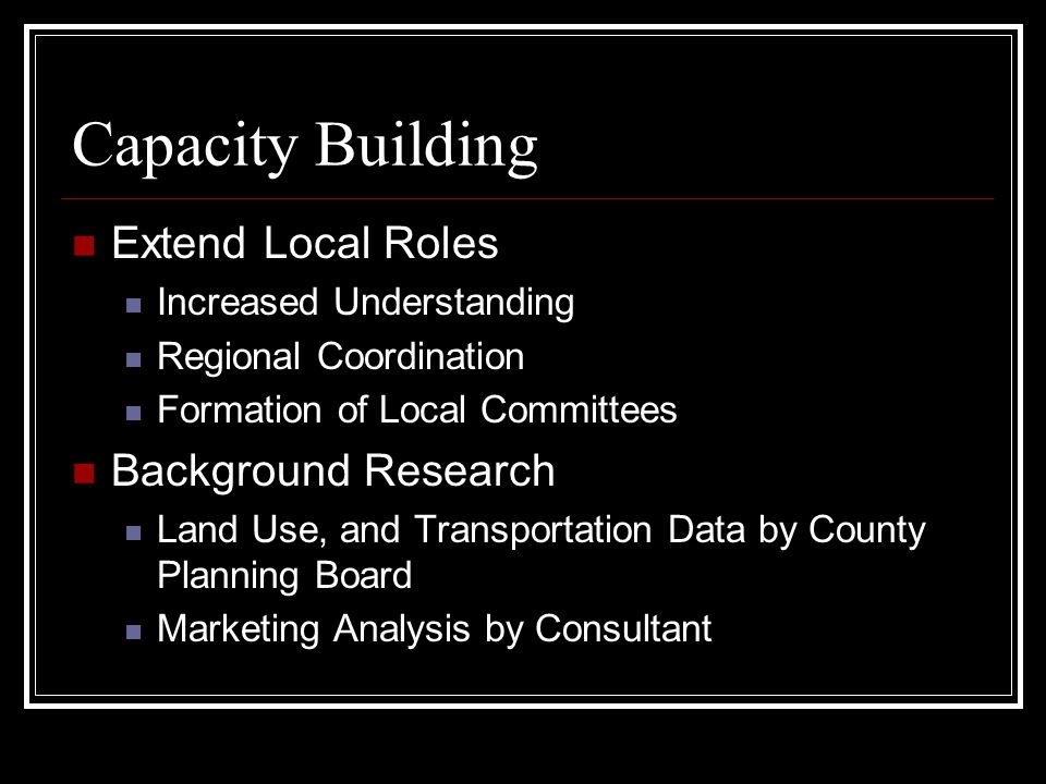 Capacity Building Extend Local Roles Background Research