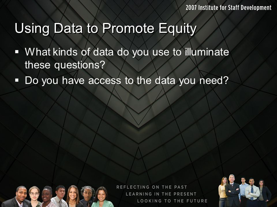 Using Data to Promote Equity