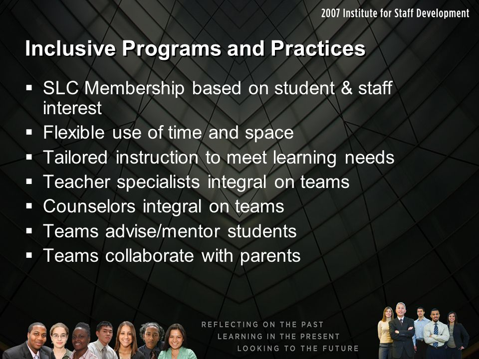 Inclusive Programs and Practices