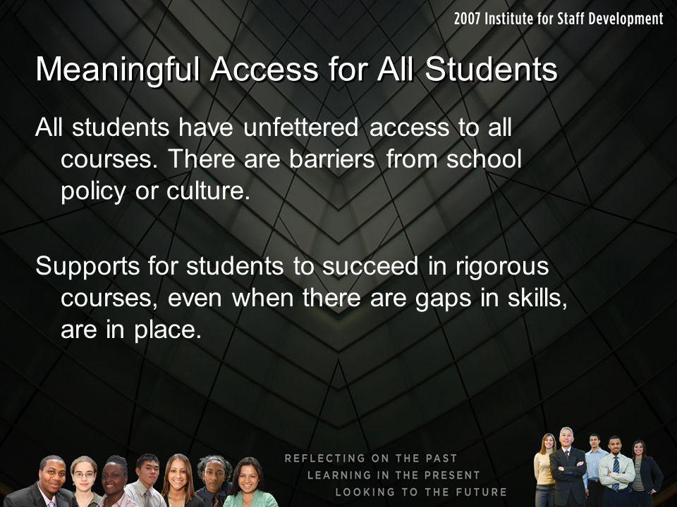 Meaningful Access for All Students