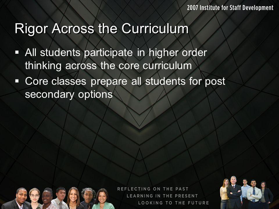 Rigor Across the Curriculum