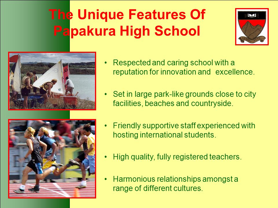 The Unique Features Of Papakura High School