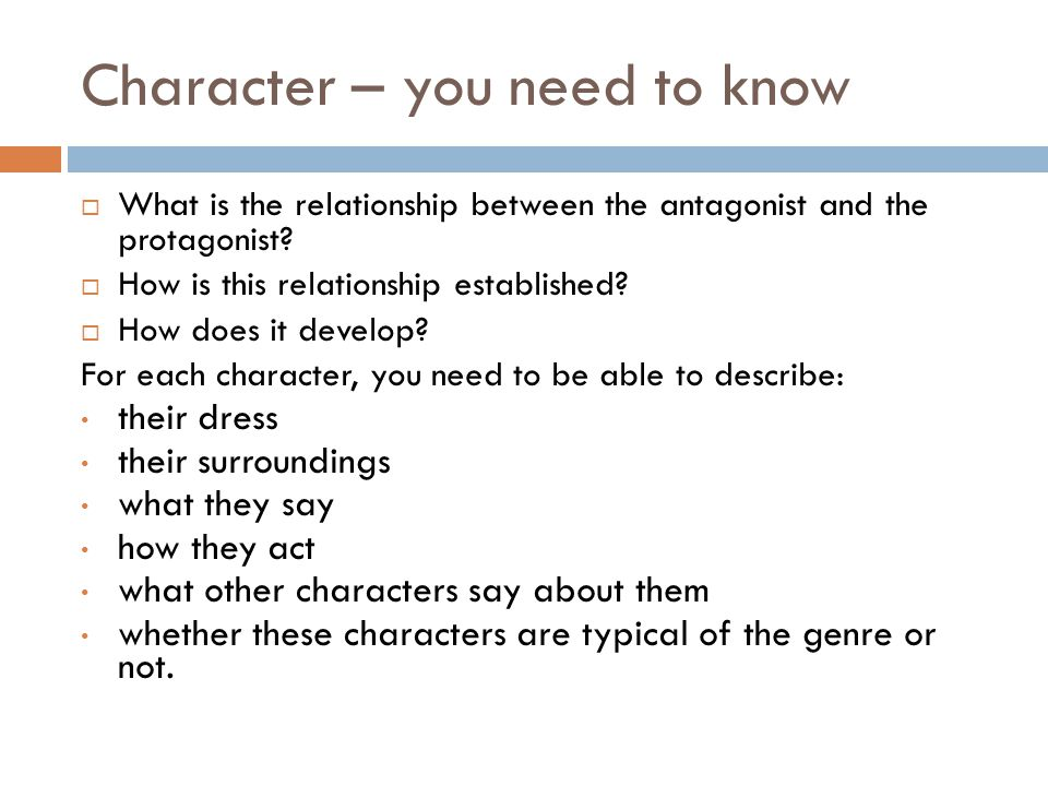 Character – you need to know