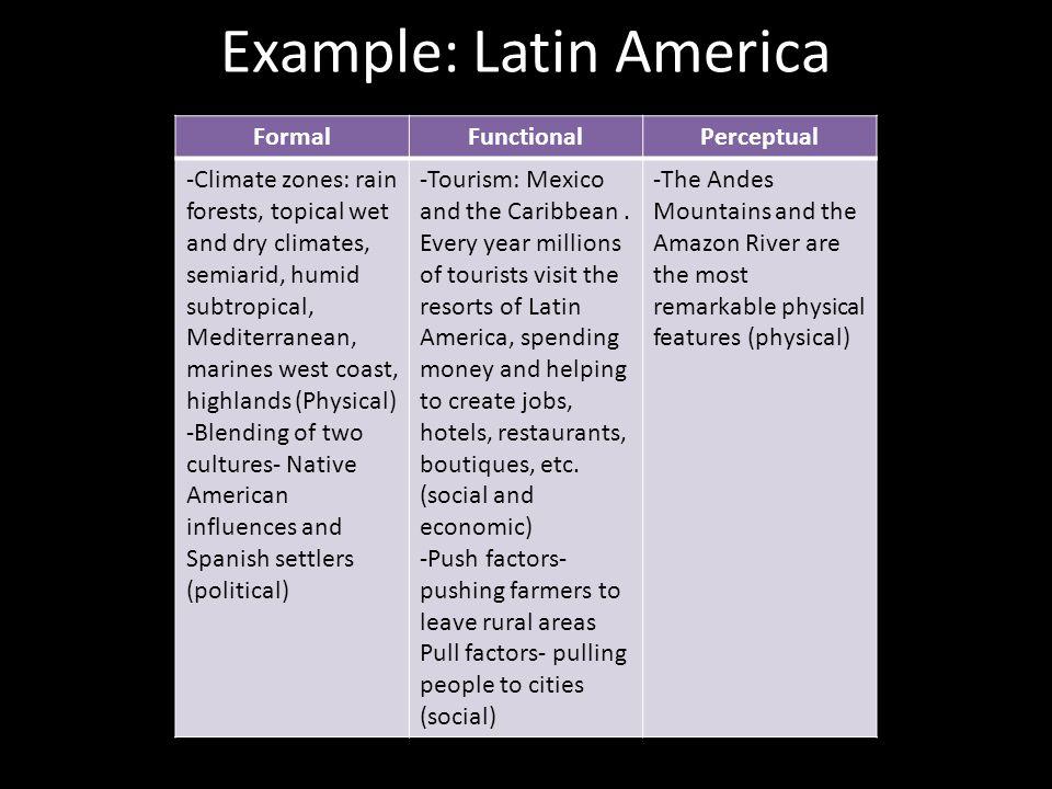 Example: Latin America