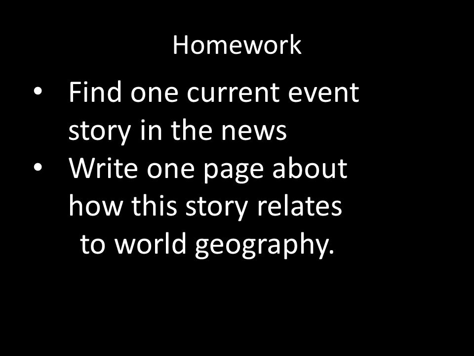 Find one current event story in the news