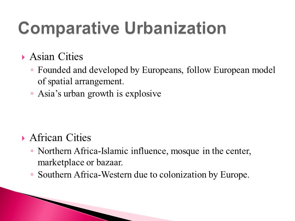 Comparative Urbanization