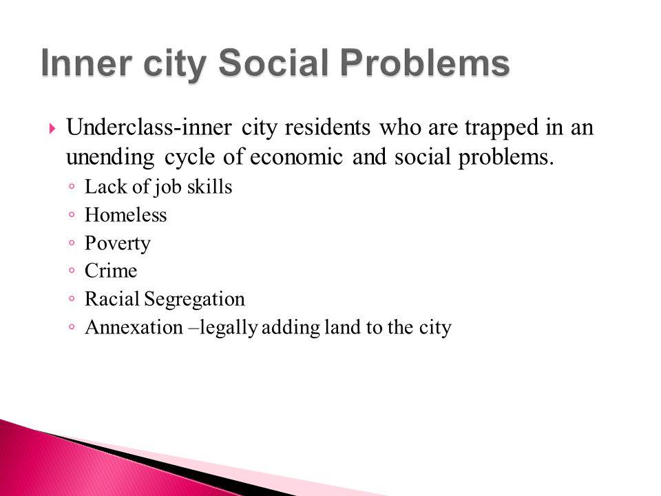 Inner city Social Problems