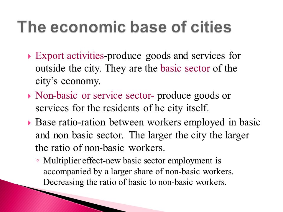 The economic base of cities