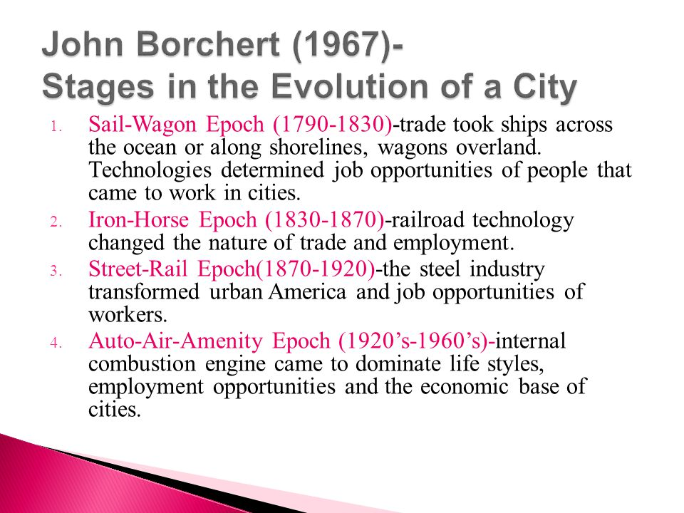 John Borchert (1967)- Stages in the Evolution of a City