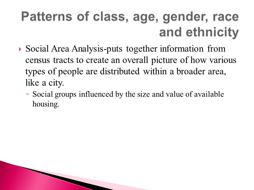 Patterns of class, age, gender, race and ethnicity
