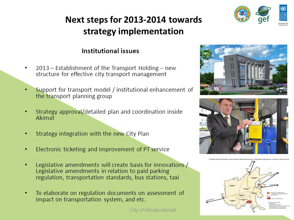 Next steps for 2013-2014 towards strategy implementation