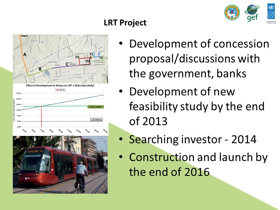 Development of new feasibility study by the end of 2013