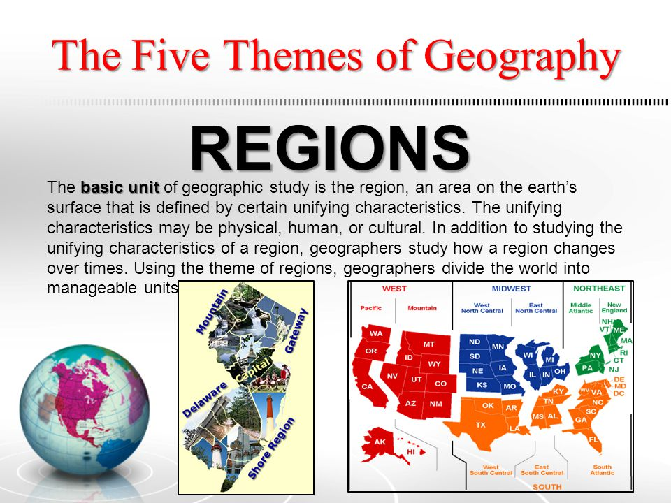 the 5 themes of geography on greece A quick overview of the general culture and geography of greece.