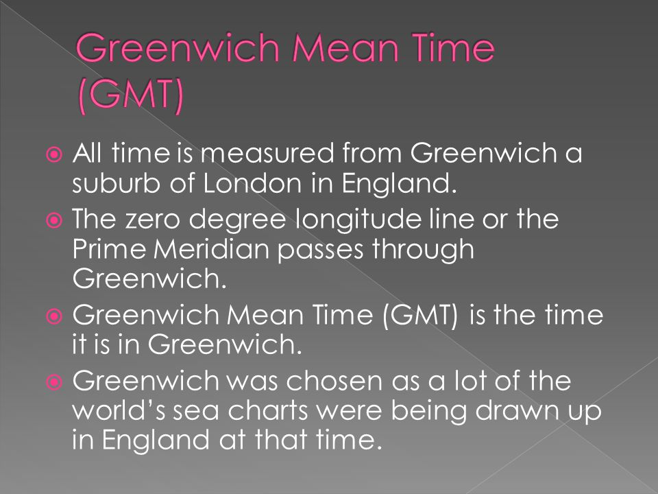 Greenwich Mean Time (GMT)
