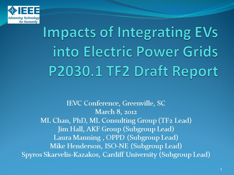 Impacts of Integrating EVs into Electric Power Grids P2030