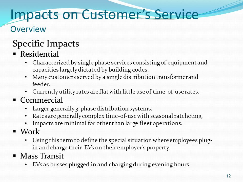 Impacts on Customer's Service Overview