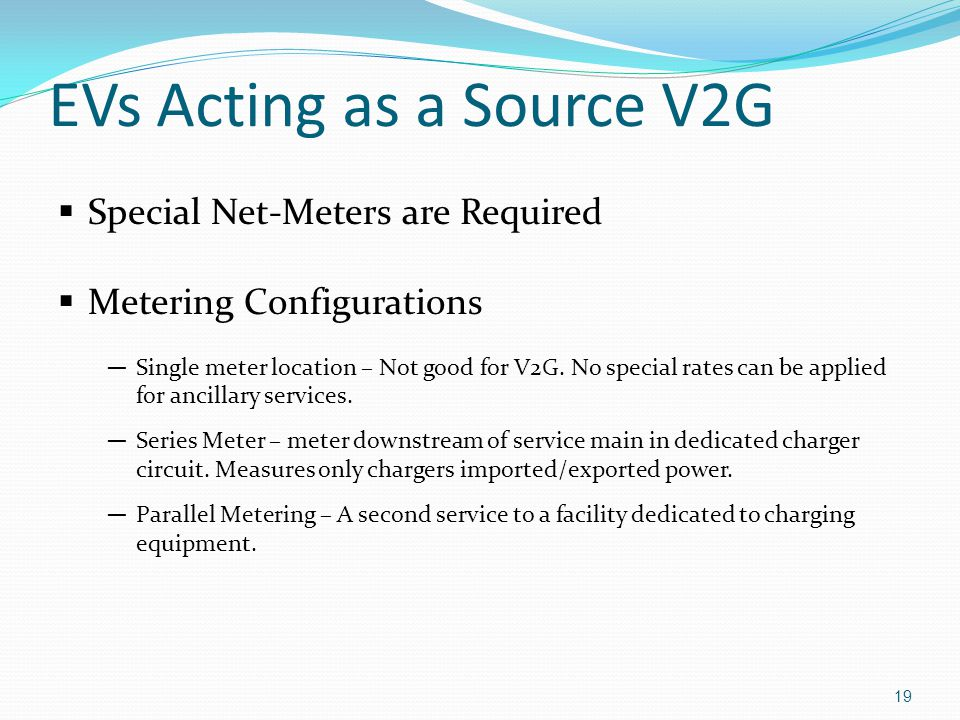 EVs Acting as a Source V2G