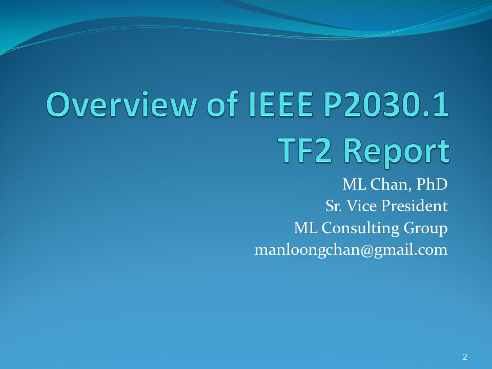 Overview of IEEE P2030.1 TF2 Report
